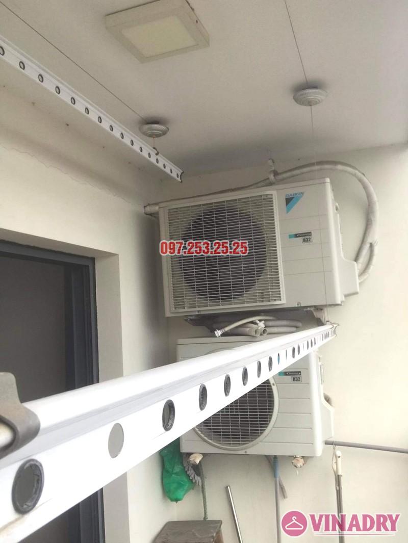 Thay dây cáp giàn phơi thông minh giá rẻ tại chung cư 75 Tam Trinh nhà anh Ba - 03