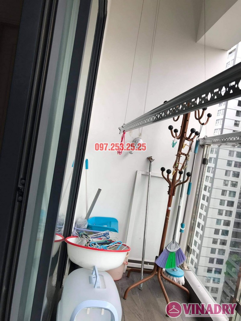 Sửa giàn phơi Thanh Xuân, thay bộ tời nhà chị Hảo, chung cư imperia garden - 06