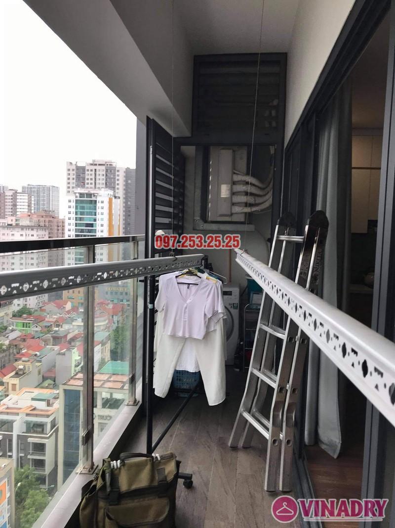 Sửa giàn phơi Thanh Xuân, thay bộ tời nhà chị Hảo, chung cư imperia garden - 04