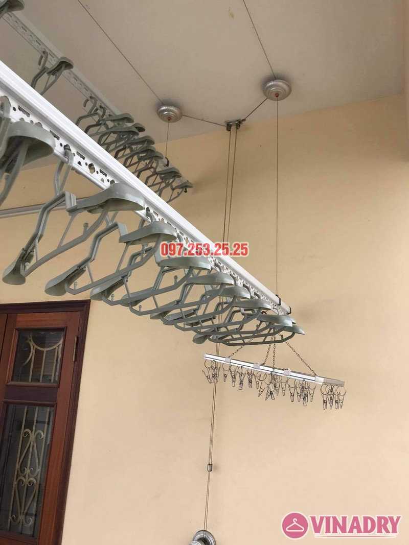 Thay dây cáp giàn phơi giá rẻ tại Long Biên nhà chị Đào, ngõ 80 phố Bắc Cầu - 01