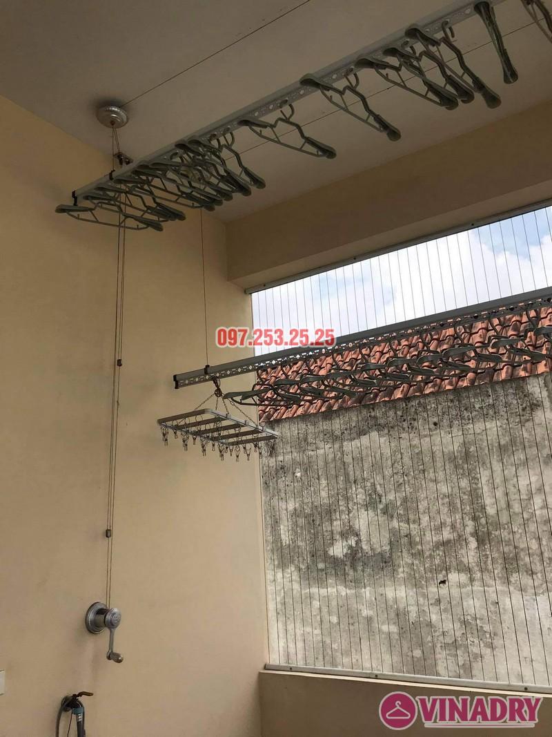 Thay dây cáp giàn phơi giá rẻ tại Long Biên nhà chị Đào, ngõ 80 phố Bắc Cầu - 04