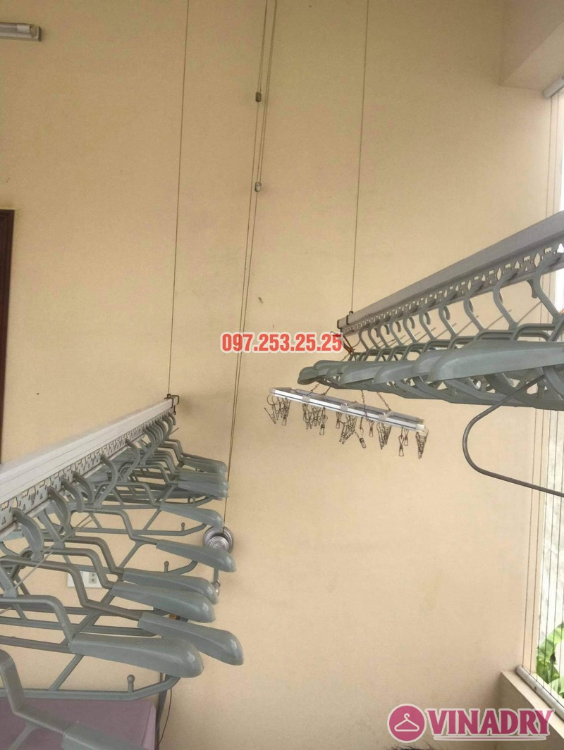 Thay dây cáp giàn phơi giá rẻ tại Long Biên nhà chị Đào, ngõ 80 phố Bắc Cầu - 05