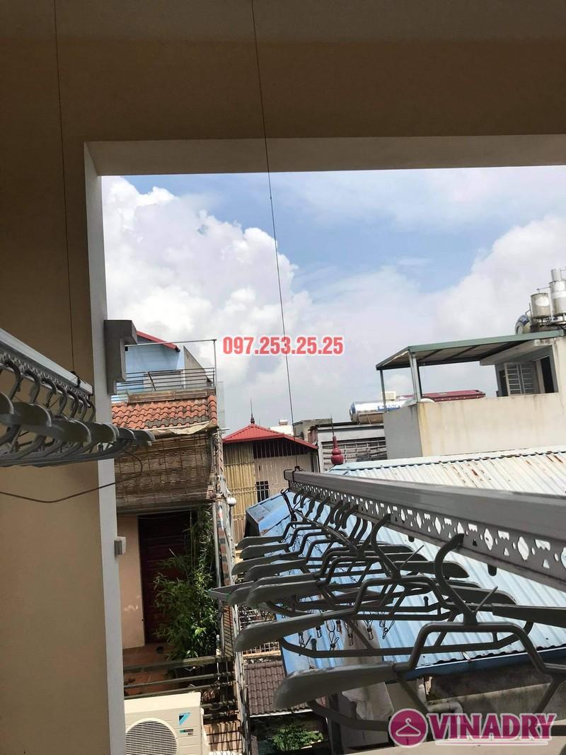 Thay dây cáp giàn phơi giá rẻ tại Long Biên nhà chị Đào, ngõ 80 phố Bắc Cầu - 06