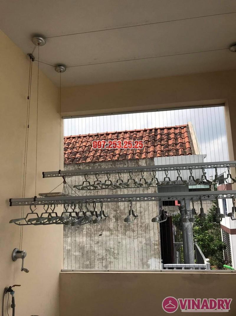 Thay dây cáp giàn phơi giá rẻ tại Long Biên nhà chị Đào, ngõ 80 phố Bắc Cầu - 07