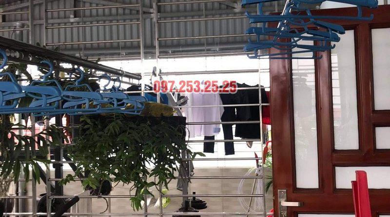 Lắp giàn phơi thông minh Đống Đa nhà anh Định, ngõ 127 Hào Nam - 01