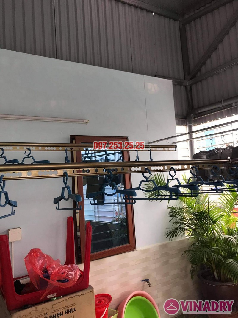Lắp giàn phơi thông minh Đống Đa nhà anh Định, ngõ 127 Hào Nam - 05