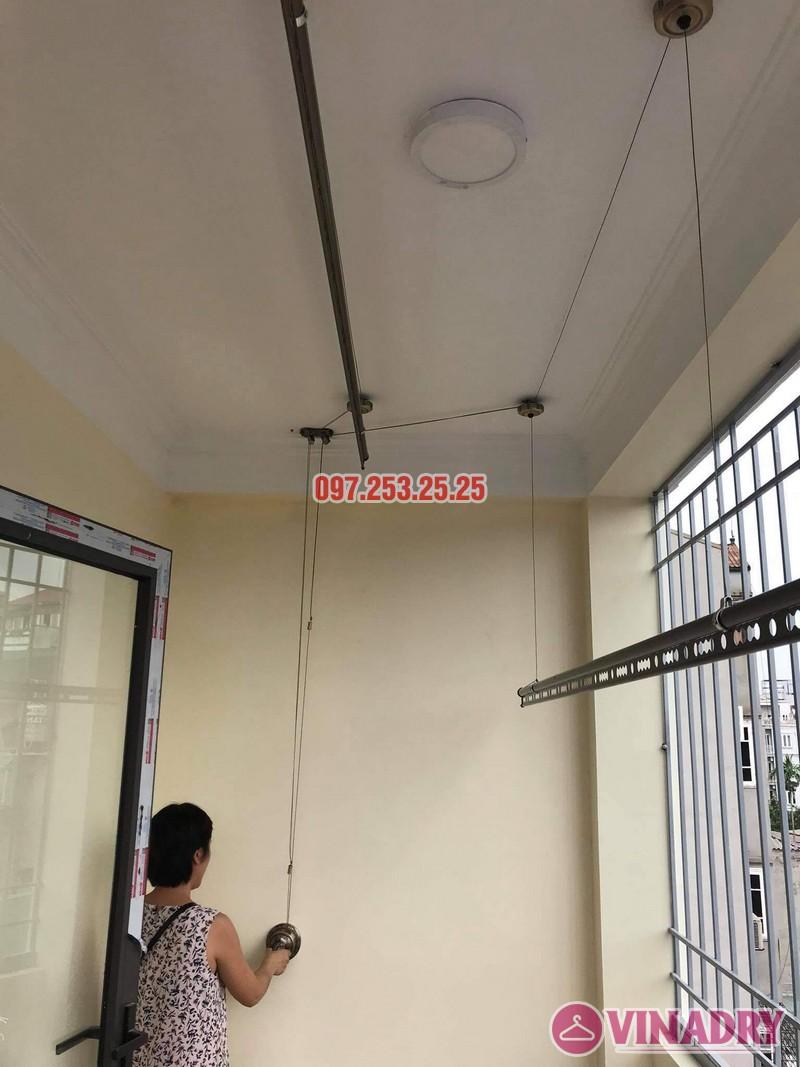 Lắp giàn phơi thông minh tại Long Biên bộ Vinadry GP941 nhà chị hồng, ngõ 344 Ngọc Thụy - 03