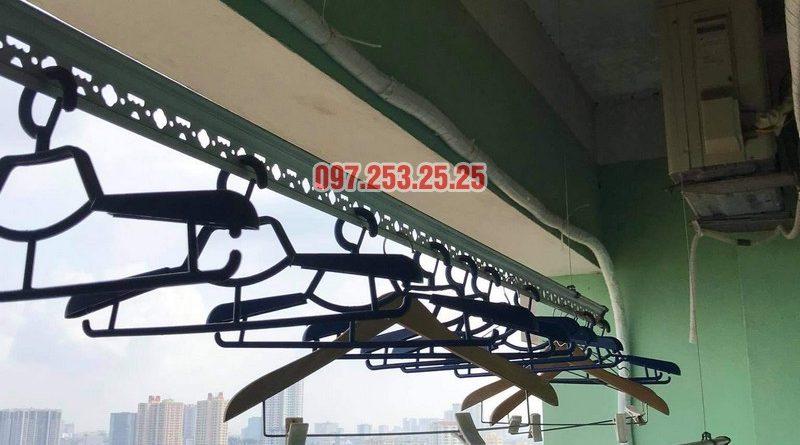 Sửa giàn phơi thông minh Bắc Linh Đàm, Hoàng Mai: thay dây cáp nhà chị Cẩm - 06