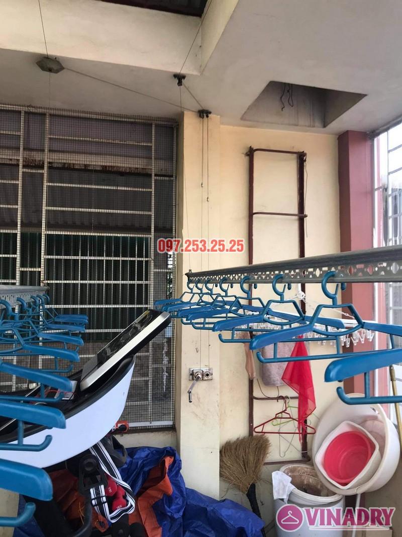 Sửa giàn phơi thông minh Long Biên: thay cáp tại nhà cô Hảo, ngõ 82 Ô Cách - 04