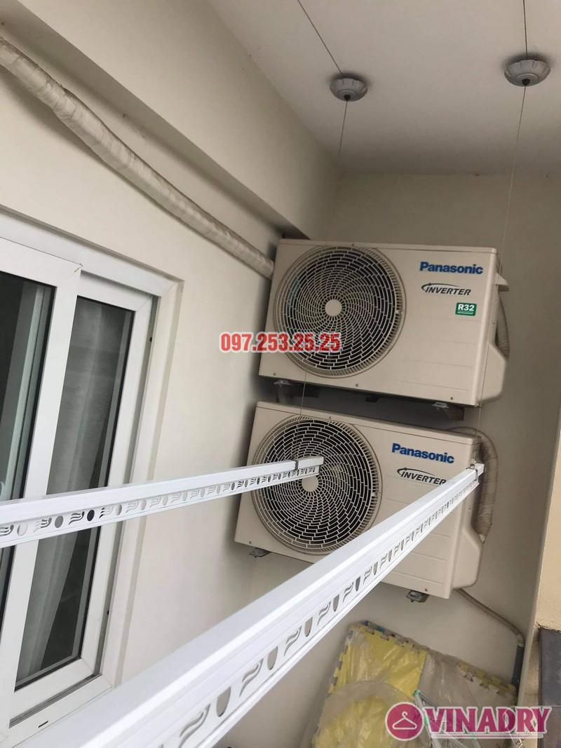 Sửa giàn phơi giá rẻ tại Long Biên nhà chị Nga, chung cư Handico 5 - 02