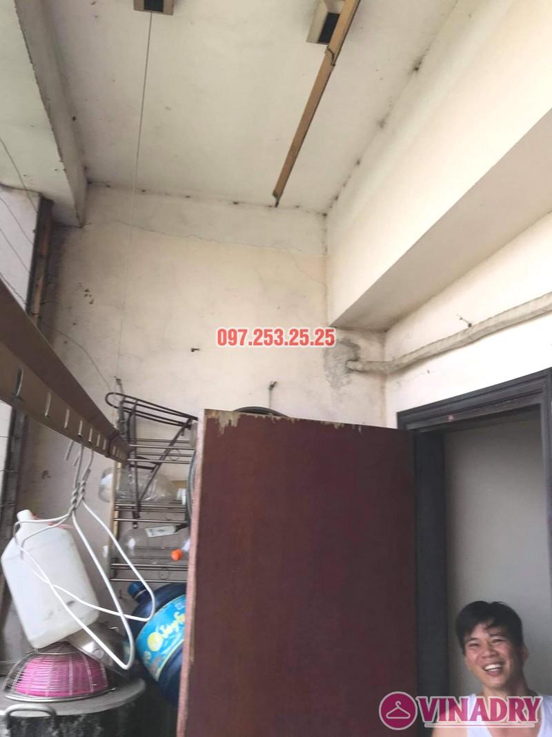 Sửa giàn phơi thông minh tại chung cư học viện hậu cần, Long Biên, Hà Nội - 01