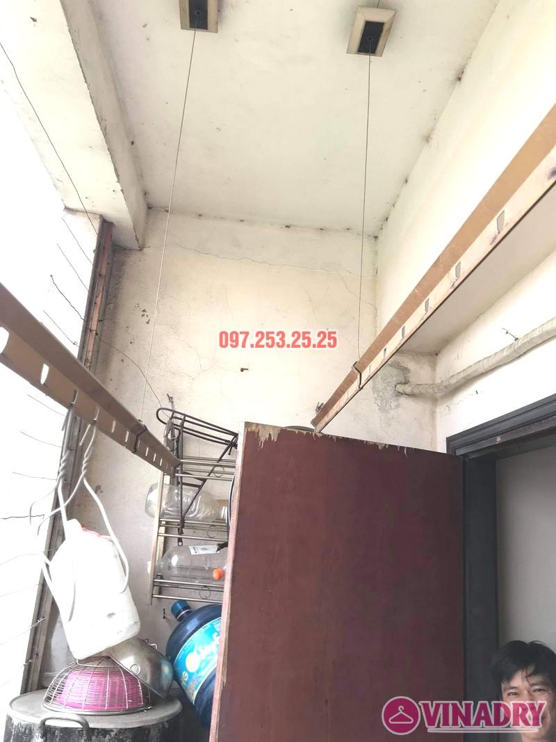Sửa giàn phơi thông minh tại chung cư học viện hậu cần, Long Biên, Hà Nội - 02