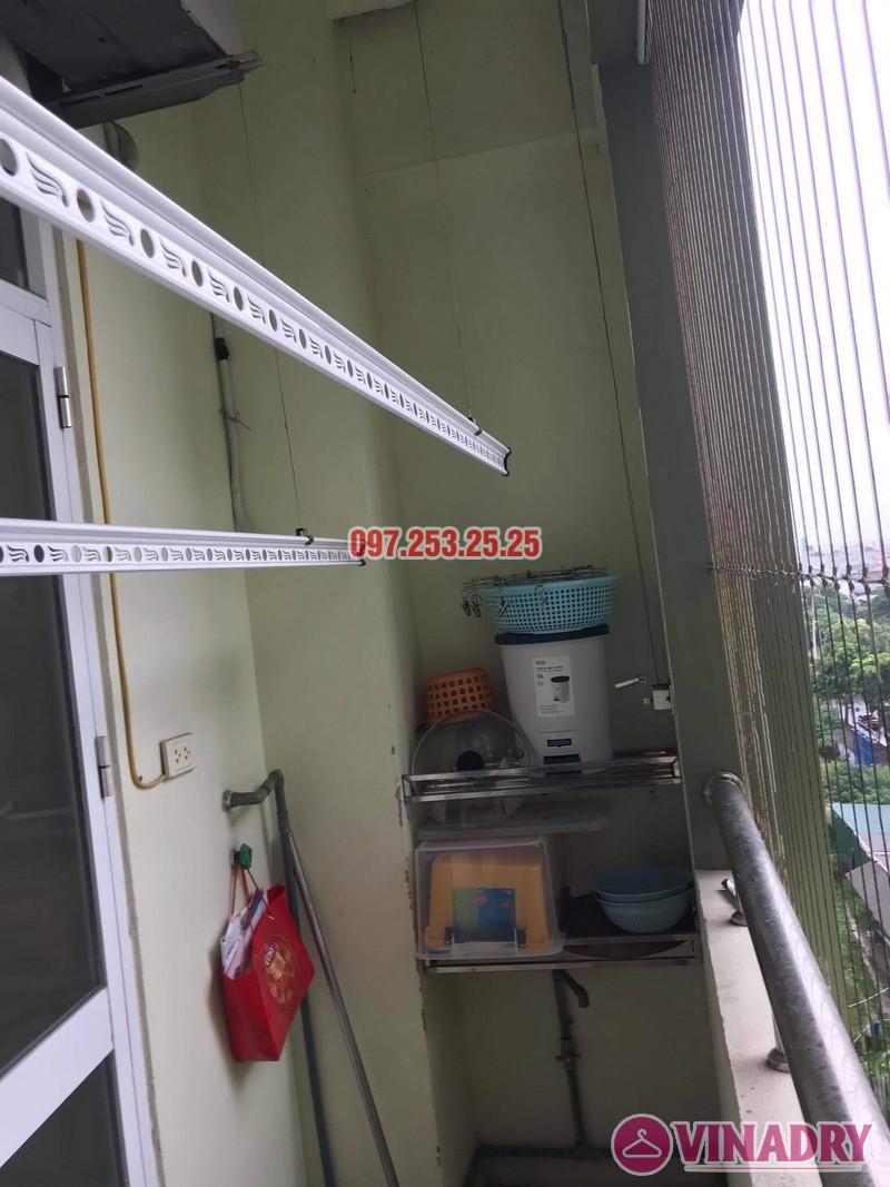Sửa giàn phơi thông minh Long Biên, thay dây cáp nhà anh Tiến, KĐT Sài Đồng - 01