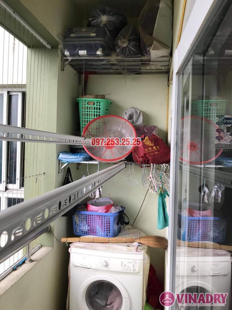 Sửa giàn phơi thông minh Long Biên, thay dây cáp nhà anh Tiến, KĐT Sài Đồng - 06