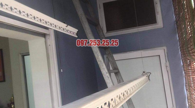 Sửa giàn phơi giá rẻ tại Thanh Trì Hà Nội, nhà chị Vân - 01