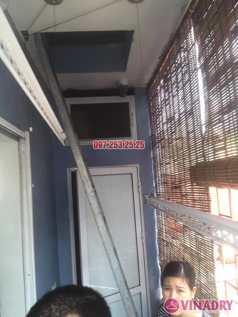 Sửa giàn phơi giá rẻ tại Thanh Trì Hà Nội, nhà chị Vân - 02