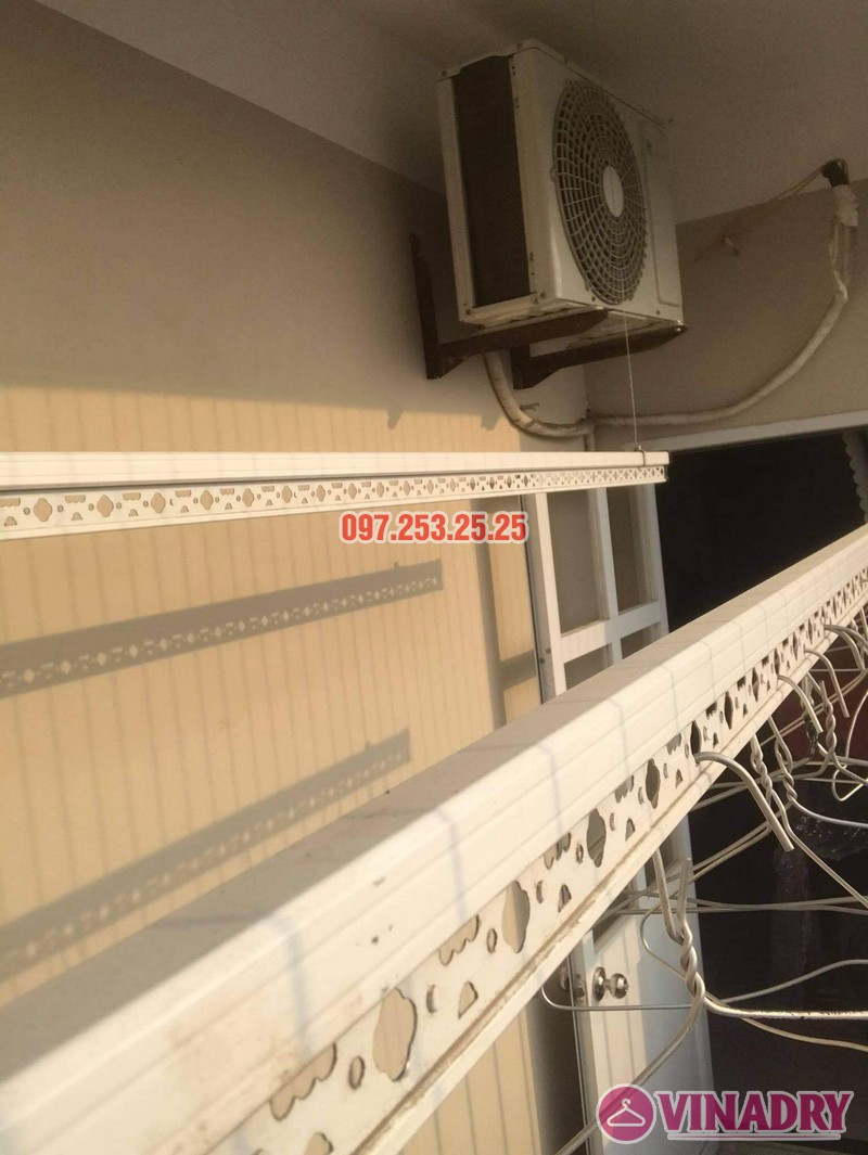 Sửa giàn phơi thông minh Long Biên, thay dây cáp tại chung cư CT1 Thạch Bàn nhà chị Hảo - 05