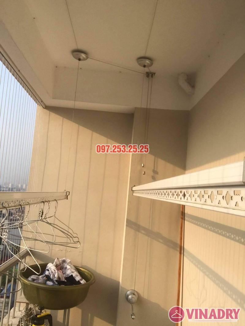 Sửa giàn phơi thông minh Long Biên, thay dây cáp tại chung cư CT1 Thạch Bàn nhà chị Hảo - 04