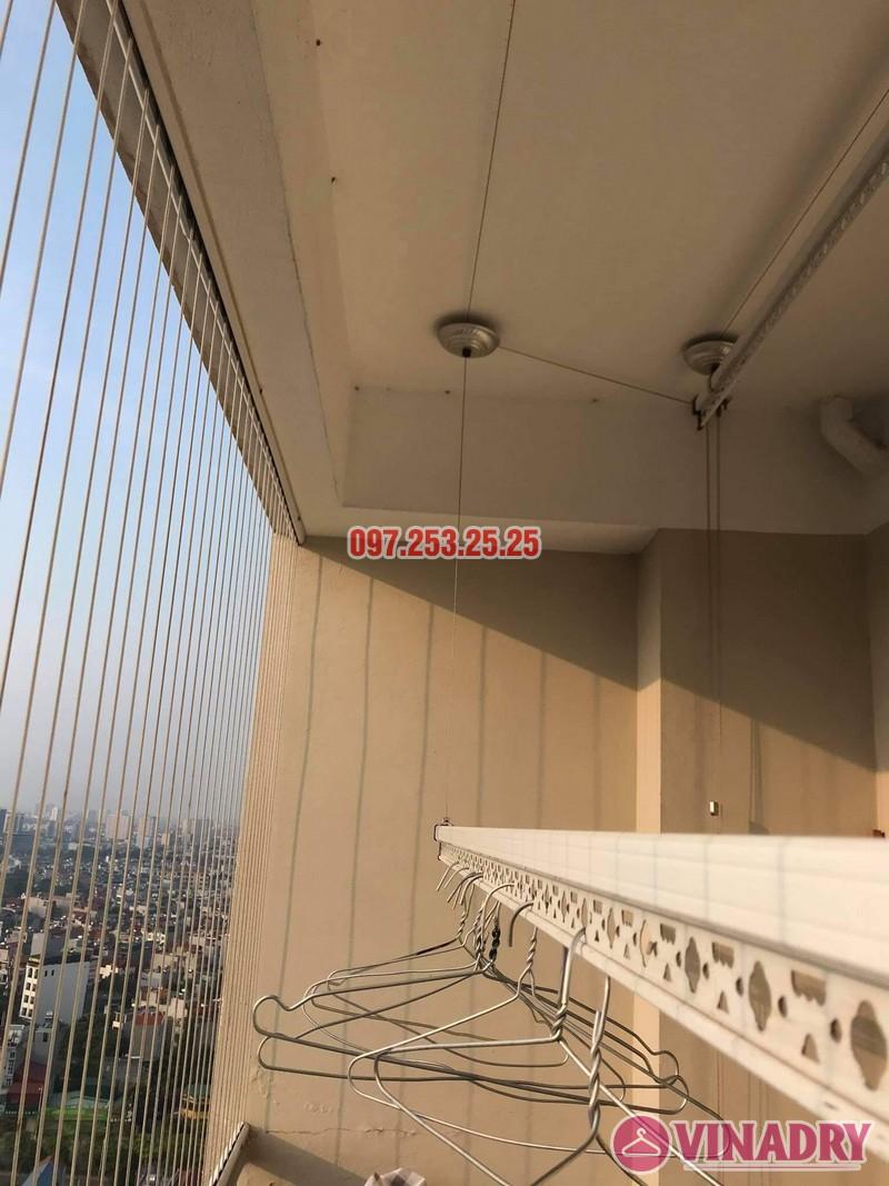Sửa giàn phơi thông minh Long Biên, thay dây cáp tại chung cư CT1 Thạch Bàn nhà chị Hảo - 03