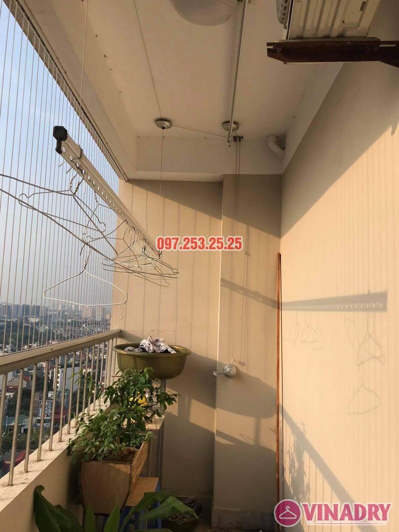 Sửa giàn phơi thông minh Long Biên, thay dây cáp tại chung cư CT1 Thạch Bàn nhà chị Hảo - 02