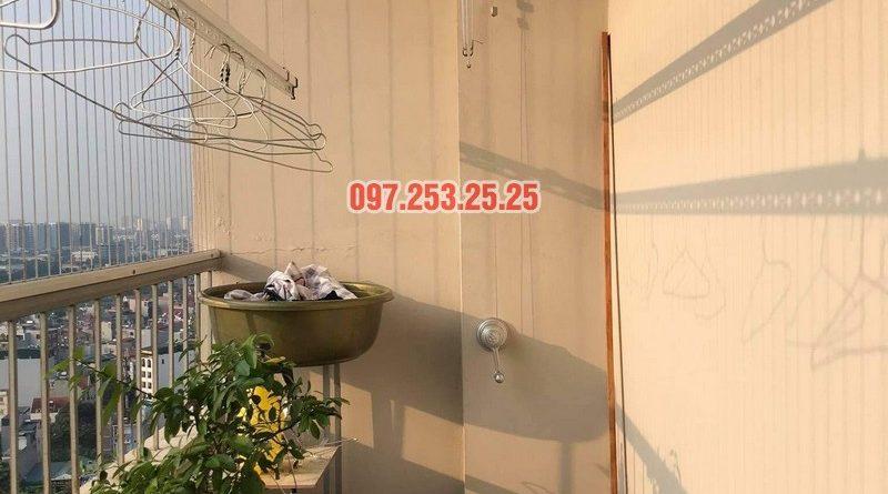 Sửa giàn phơi thông minh Long Biên, thay dây cáp tại chung cư CT1 Thạch Bàn nhà chị Hảo - 01