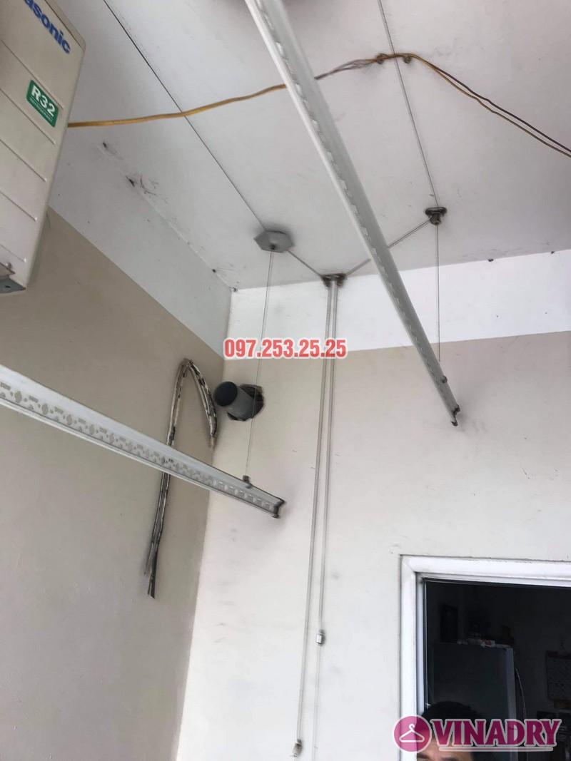 Thay dây cáp giàn phơi thông minh giá rẻ tại Hoàng Mai, chung cư 250 minh Khai nhà anh Bảo - 04