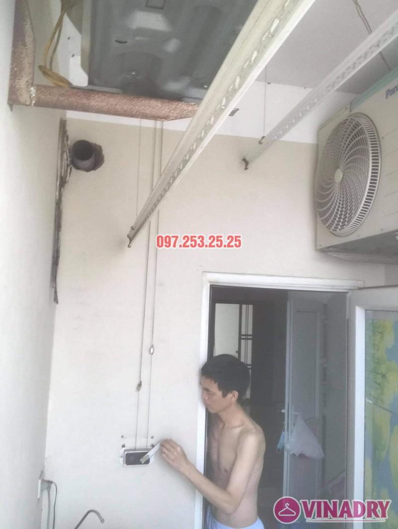 Thay dây cáp giàn phơi thông minh giá rẻ tại Hoàng Mai, chung cư 250 minh Khai nhà anh Bảo - 05