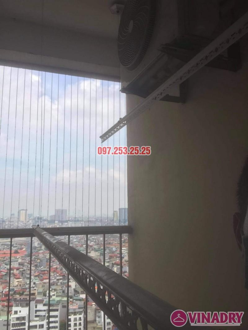 Thay dây cáp giàn phơi thông minh giá rẻ tại Hoàng Mai, chung cư 250 minh Khai nhà anh Bảo - 06