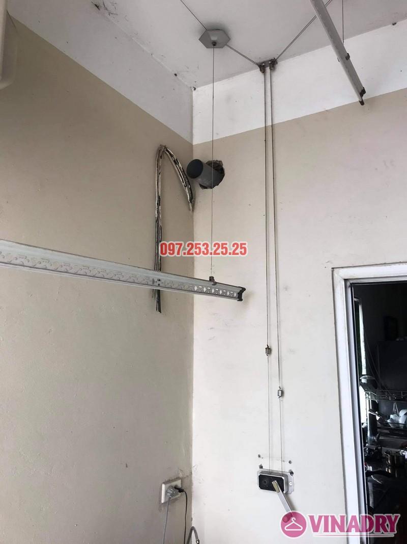 Thay dây cáp giàn phơi thông minh giá rẻ tại Hoàng Mai, chung cư 250 minh Khai nhà anh Bảo - 07