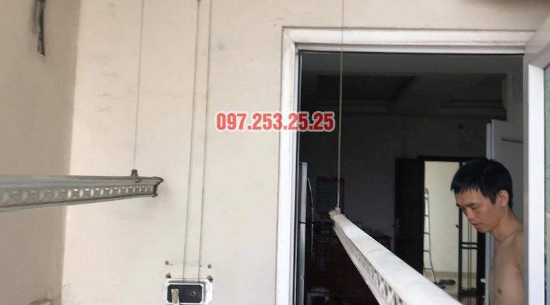 Thay dây cáp giàn phơi thông minh giá rẻ tại Hoàng Mai, chung cư 250 minh Khai nhà anh Bảo - 02