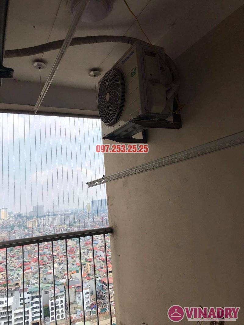 Thay dây cáp giàn phơi thông minh giá rẻ tại Hoàng Mai, chung cư 250 minh Khai nhà anh Bảo - 03