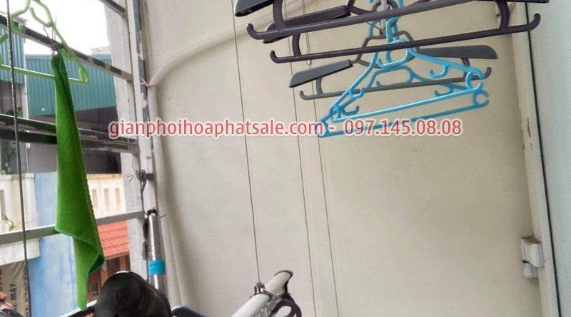 Sửa giàn phơi quần áo tại Long Biên: thay dây cáp giá rẻ ở chung cư Kinh Đô nhà anh Trí - 04