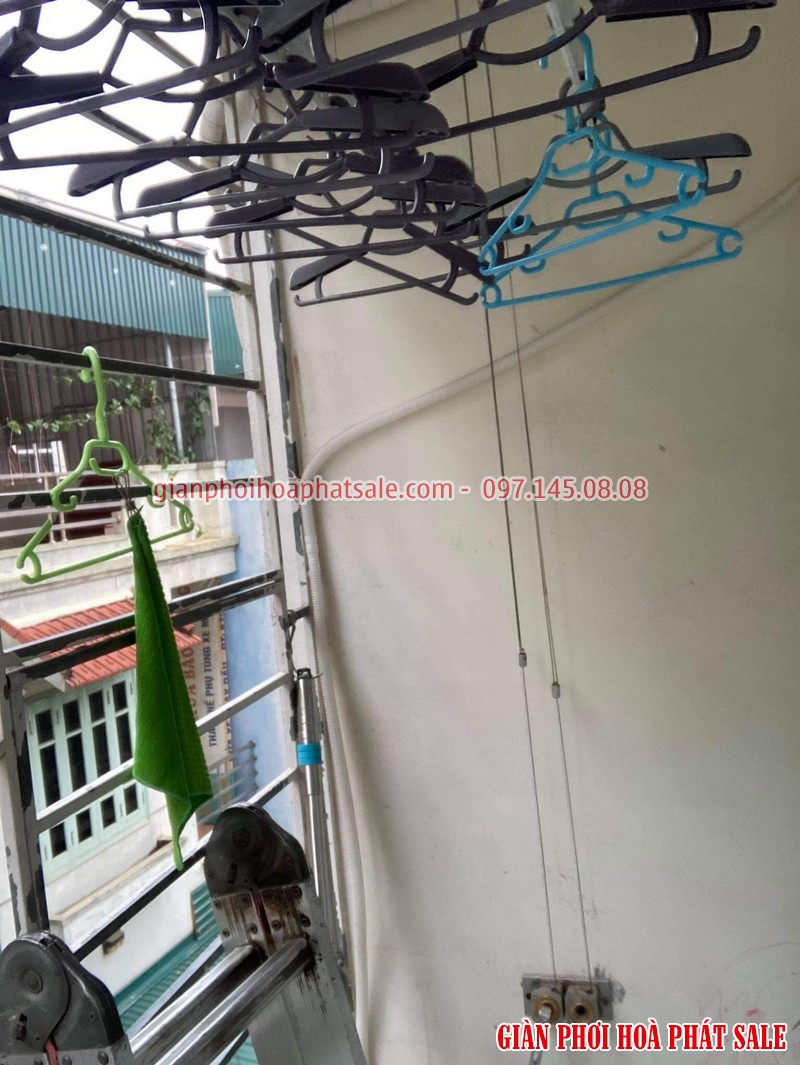 Sửa giàn phơi quần áo tại Long Biên: thay dây cáp giá rẻ ở chung cư Kinh Đô nhà anh Trí - 01