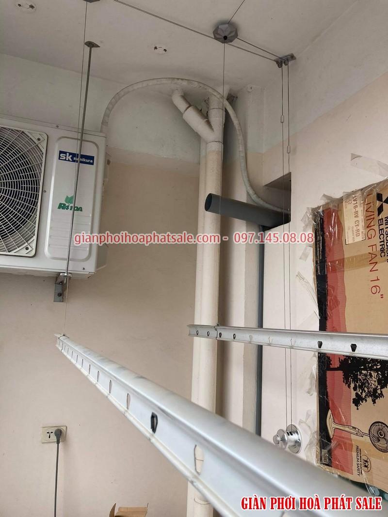 Sửa giàn phơi Long Biên, thay linh kiện giá rẻ tại nhà chị Oanh, chung cư học viện hậu cần - 01