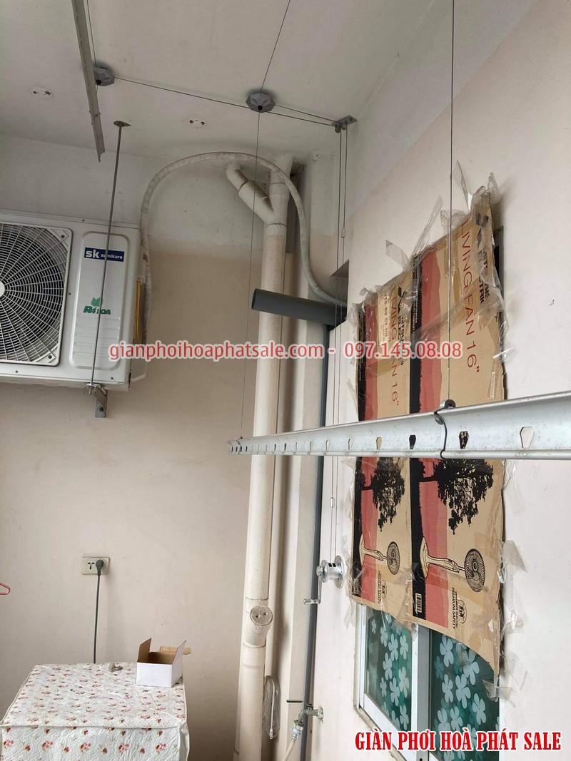 Sửa giàn phơi Long Biên, thay linh kiện giá rẻ tại nhà chị Oanh, chung cư học viện hậu cần - 04