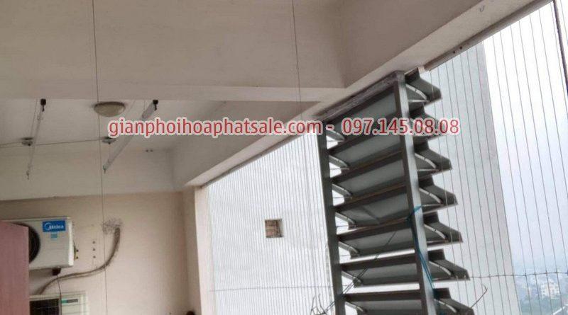 Sửa giàn phơi Long Biên, thay linh kiện giá rẻ tại nhà chị Oanh, chung cư học viện hậu cần - 06